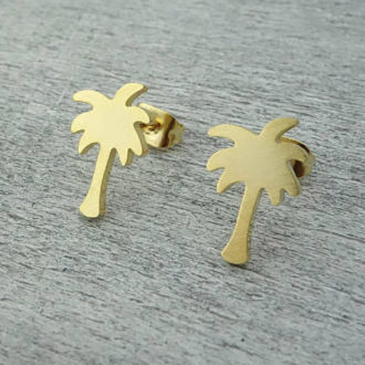 Palm Tree Stud Earrings - cloverbliss.com