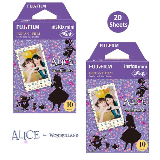 2 Packs FujiFilm Instax Mini Films - Alice in Wonderland
