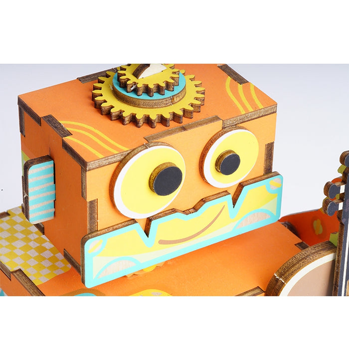 Little Robot Music Performer Wooden Puzzle