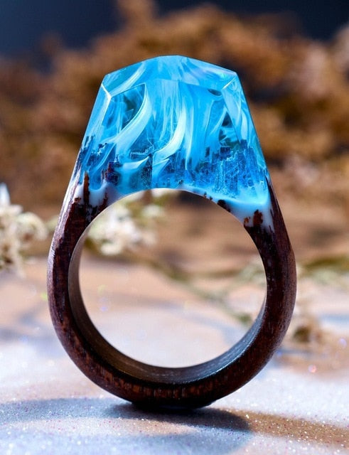Handmade Magical World Wooden Rings - cloverbliss-co