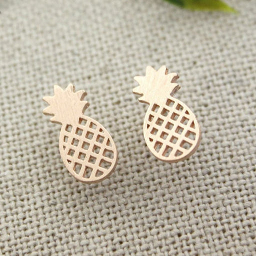 Pineapple Stud Earrings - cloverbliss.com