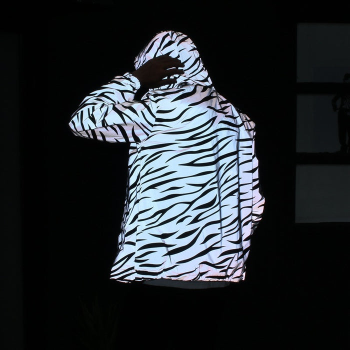Reflective Cycling Windbreaker Jacket - cloverbliss.com