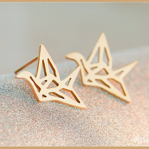Origami Crane Earrings - cloverbliss.com