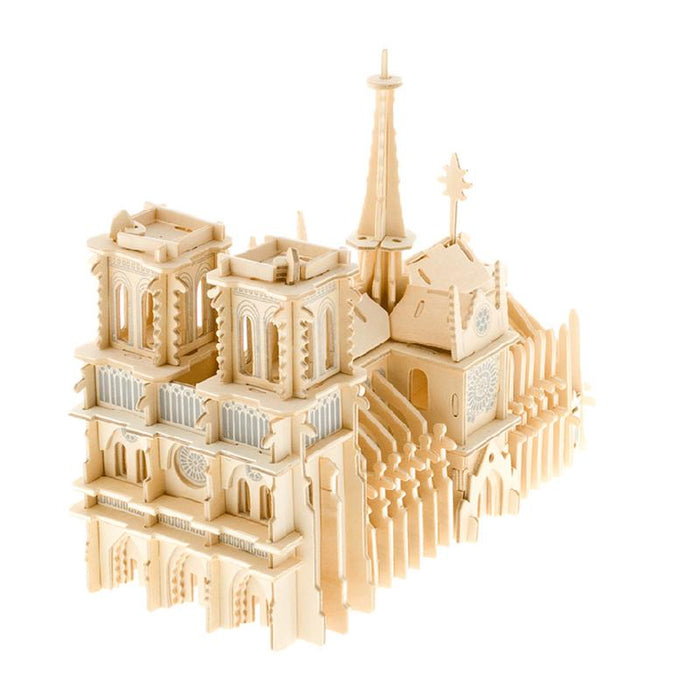 Notre Dame De Paris 3D Jigsaw Wooden Puzzle - cloverbliss-co