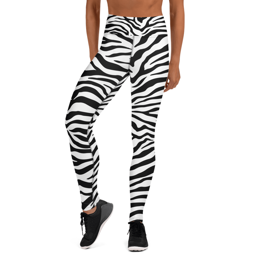 Revive Wear Womens Activewear Black and White Print Yoga Leggings XS