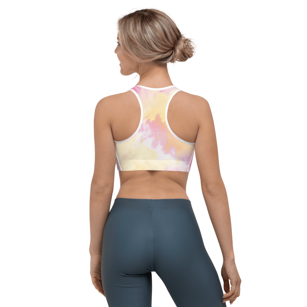 Revive Wear Womens Activewear Dreamy Pastel Tie-Dye Full-Coverage Supportive Women's Sports Bra