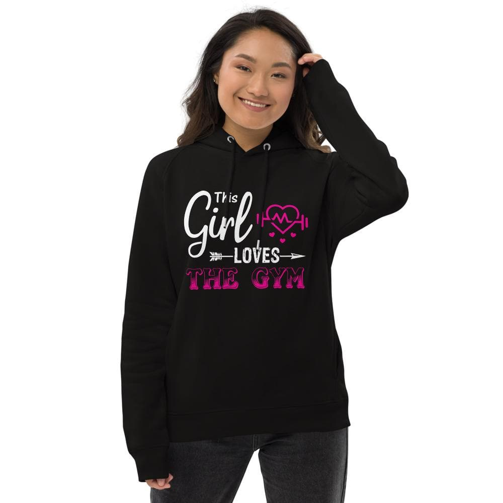 Revive Wear Womens Activewear Girls Who Love The Gym Pullover Hoodie Black / S