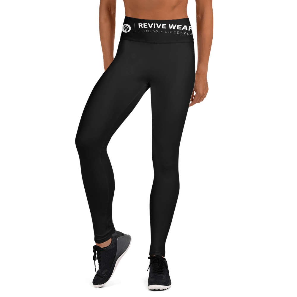 Revive Wear Womens Activewear Supersoft Yoga Leggings in Black XS