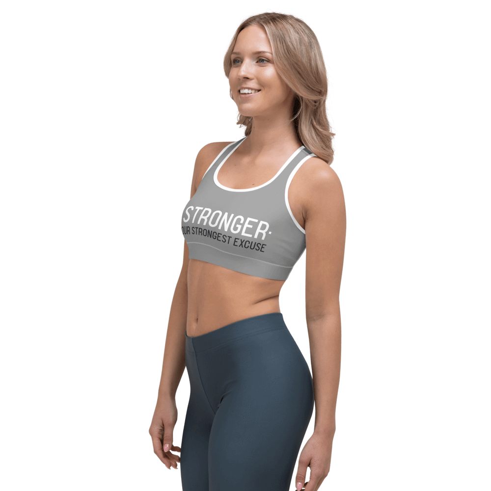 Revive Wear Womens Activewear Supportive and Comfortable Be Stronger Gray Sports Bra for Low- and Medium-Intensity Workouts