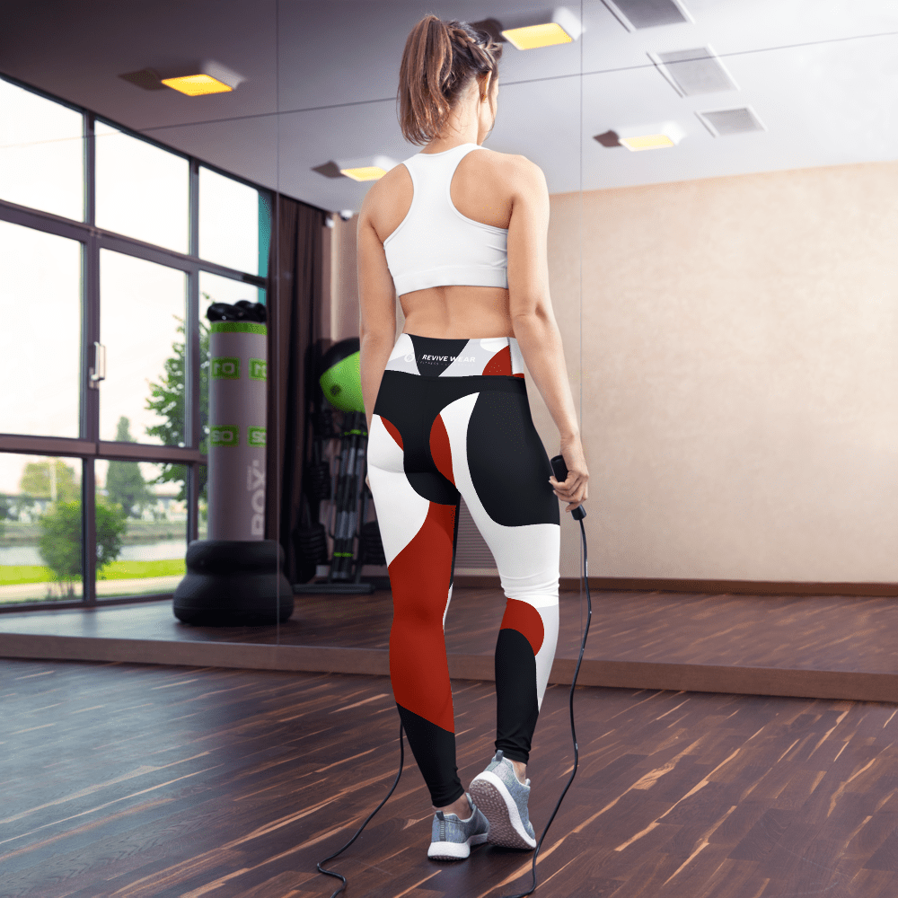 Revive Wear Womens Activewear Women's Abstract Shaping Yoga Leggings