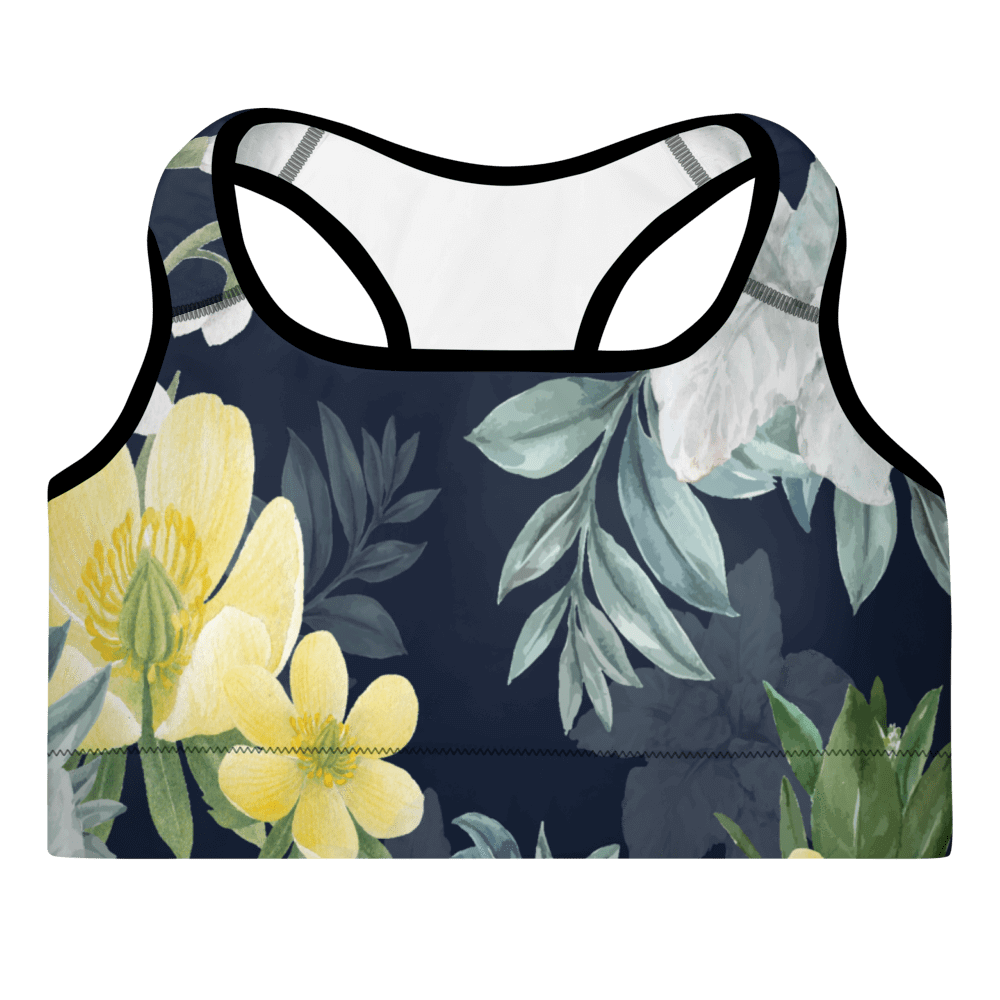 Revive Wear Womens Activewear Women's Fitness Floral Padded Sports Bra XS