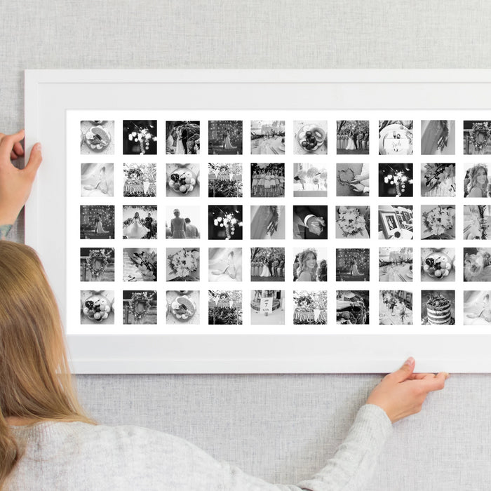 75 Image Couples Love Story Collage Print