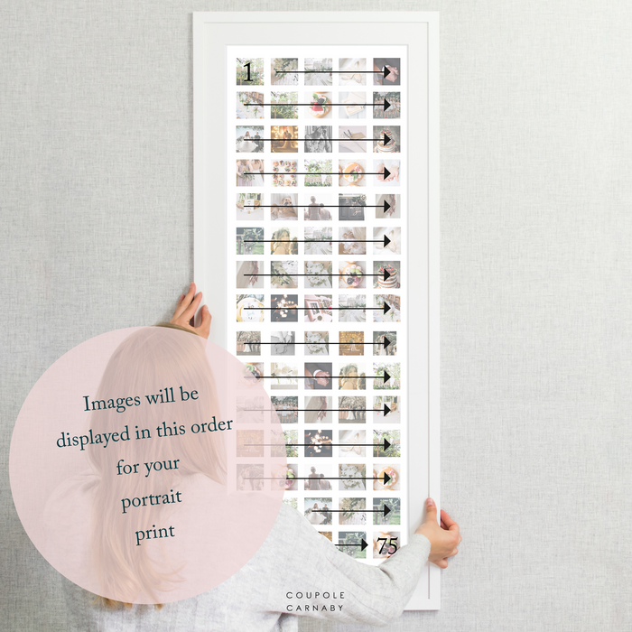 75 Image Wedding Collage Print