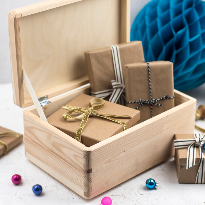Baby's First Christmas Wooden Engraved Keepsake Box