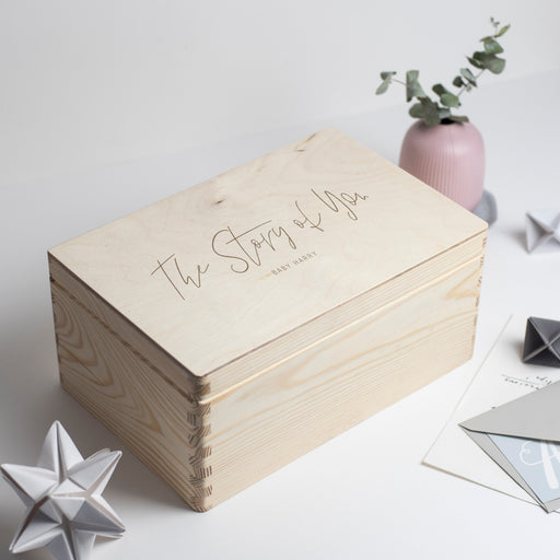 'The Story of You' Baby Christmas Wooden Engraved Keepsake Box