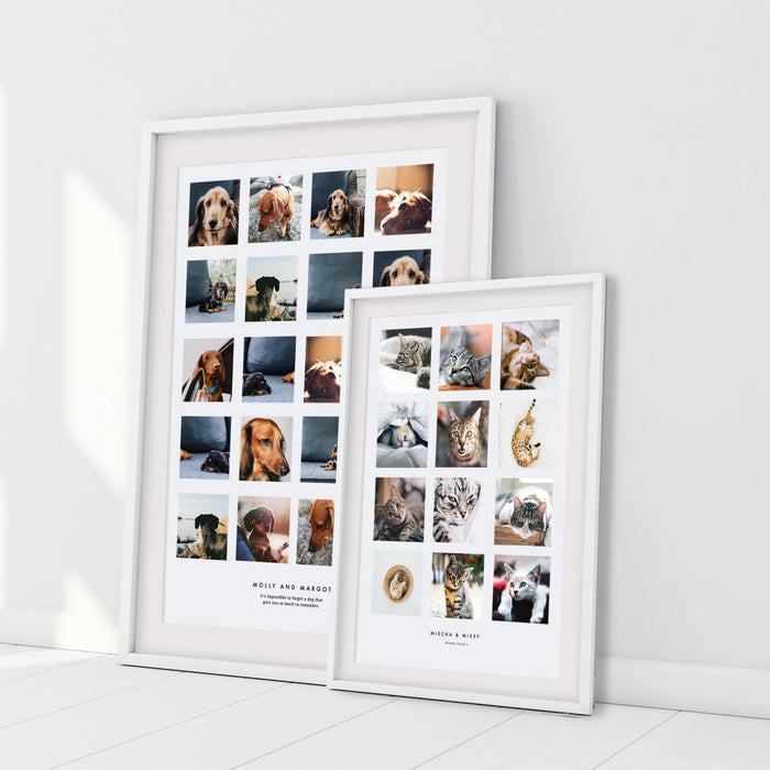 Personalised Much Loved and Missed Pet Photo Collage