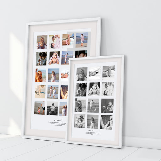 Personalised Best Daddy Photo Collage