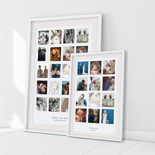 Personalised Wedding Photo Collage Print