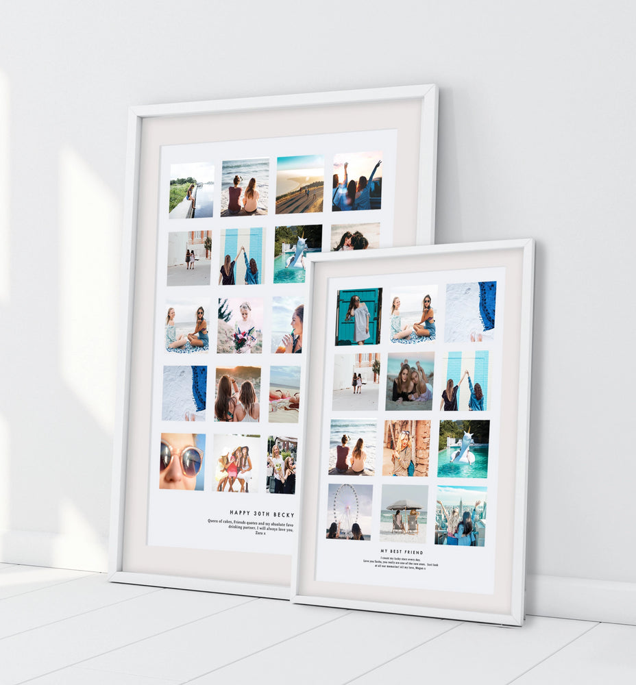 Personalised Best Friend Photo Collage
