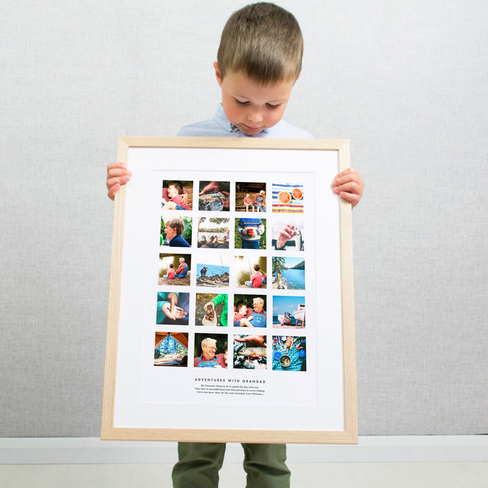 Personalised Adventures With Grandma And Grandad Photo Collage