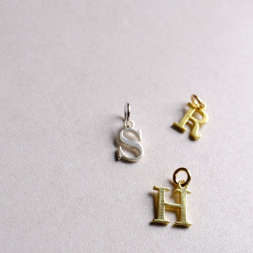 Sterling Silver Alphabet Pendant (add on pendant)