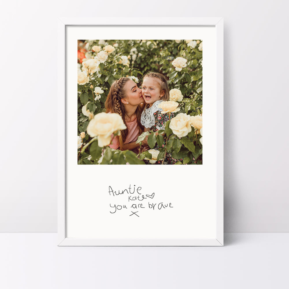 Your Childs Handwritten Photo Print For Auntie