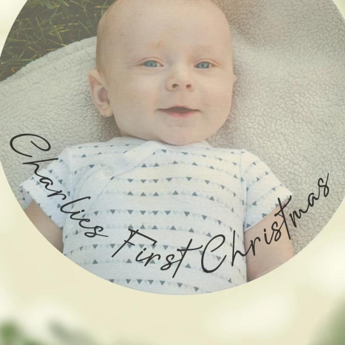 Baby's First Christmas Personalised Photo Bauble