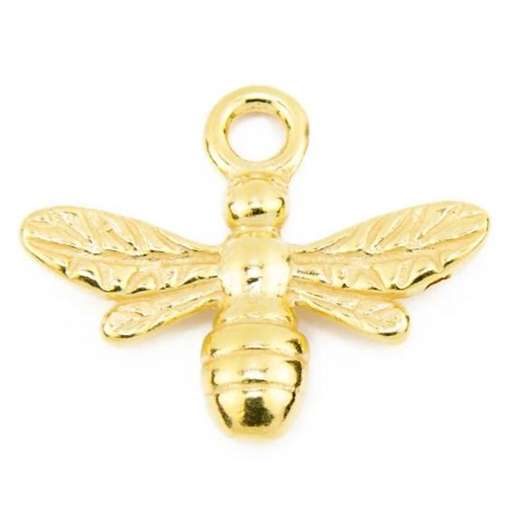 Gold Vermeil Bee Pendant (add on pendant)