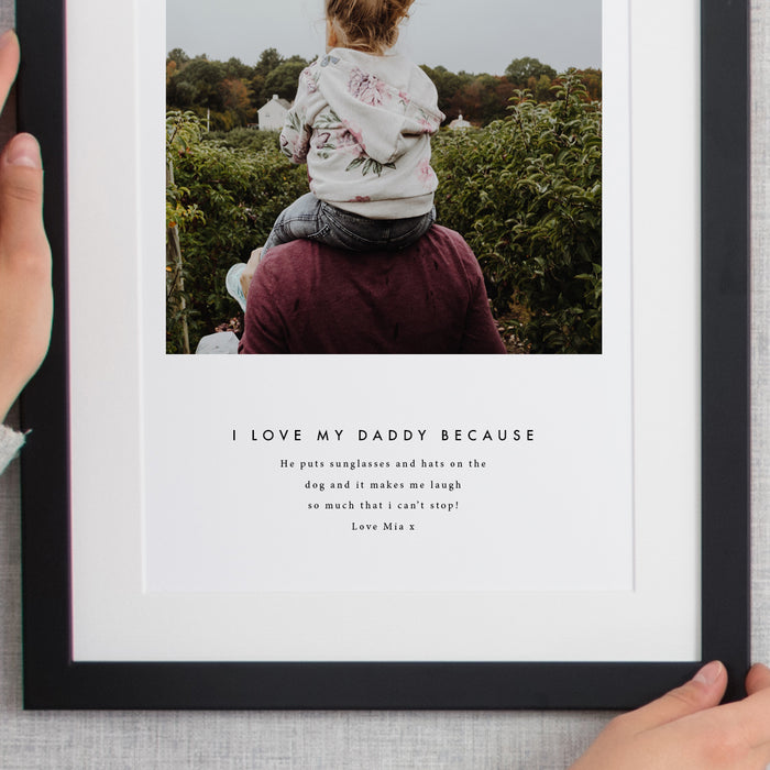 Being Daddy Single Image Personalised Framed Print