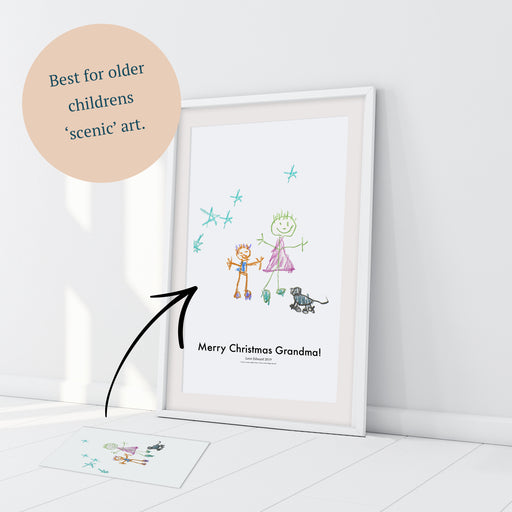 Personalised Childrens Artwork Print For Picture Scenes