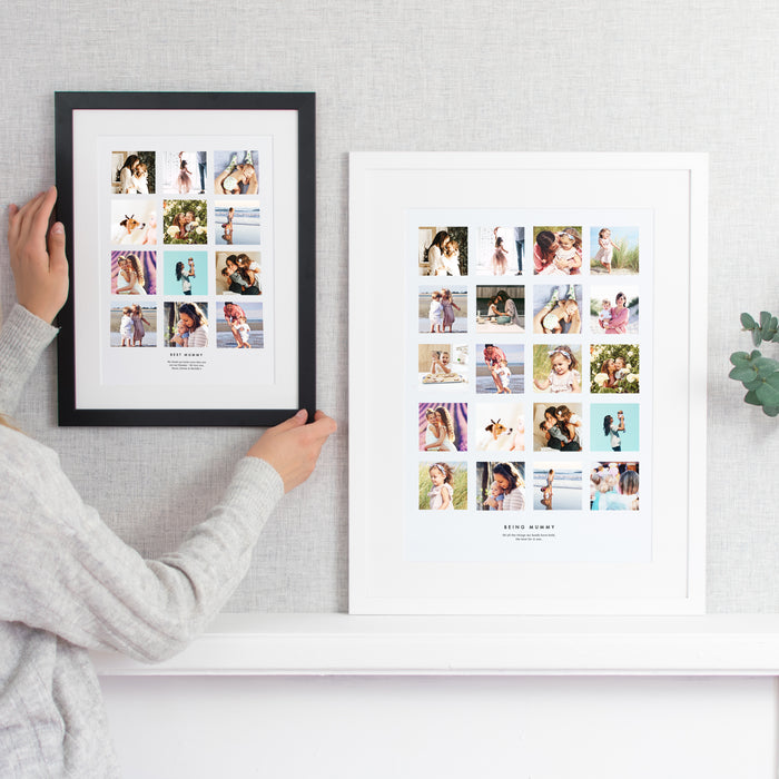 Personalised Best Mummy Photo Collage Print