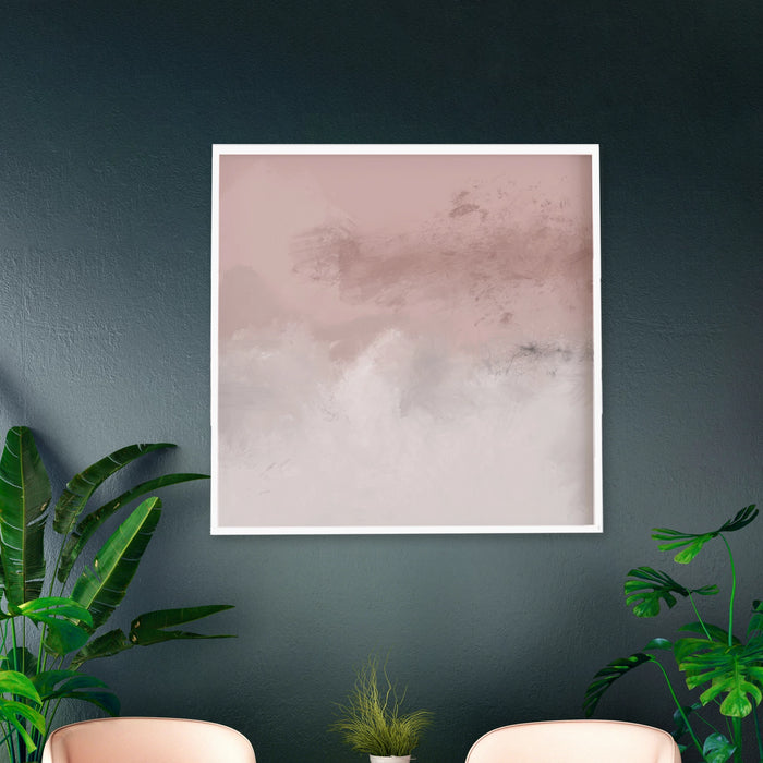 Abstract Square and Blush Large Art Print