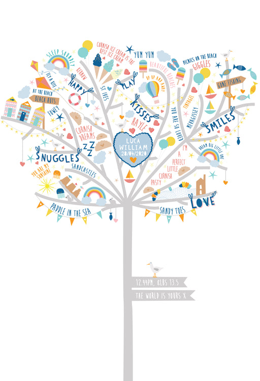 Cornish Happiness Tree Print