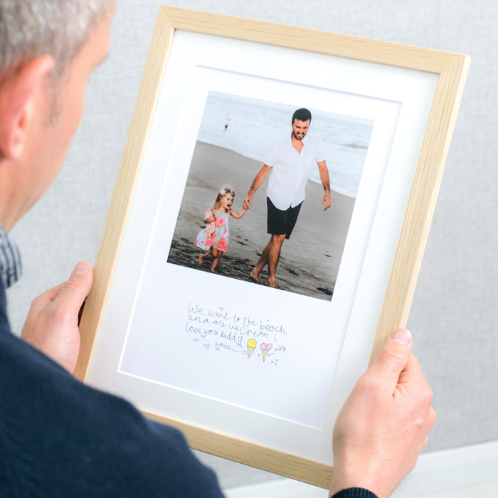 Your Childs Handwritten Message For Daddy With Photo With Photo