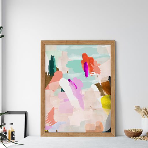 Colourful Abstract Art Print