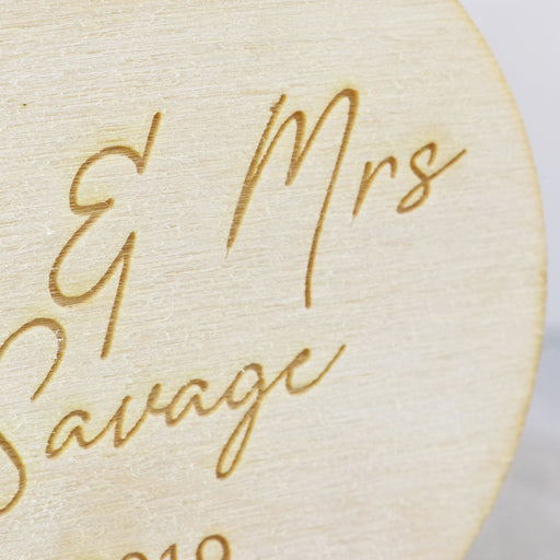 Baby's First Christmas Personalised Engraved Wooden Christmas Bauble