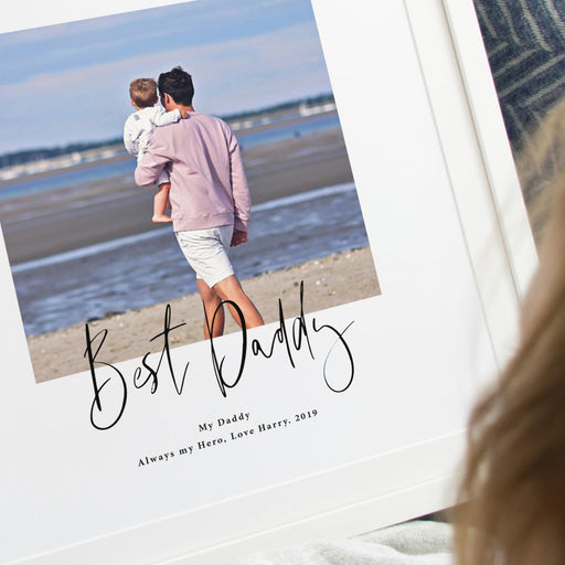 Scripted Personalised Best Daddy Photo Print
