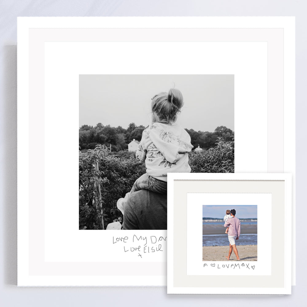 Your Childs Handwritten Message and Photo Gift for Daddy