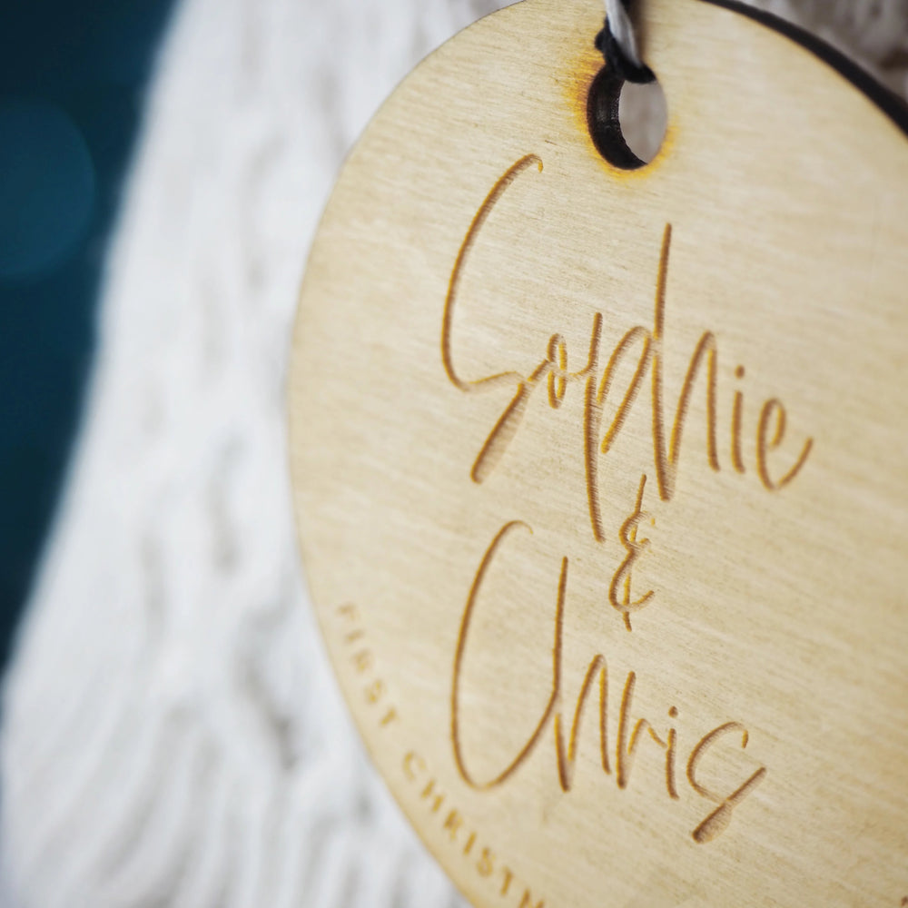 Personalised First Christmas as an Engaged Couple Tree Decoration