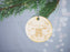 'First Christmas At' New Home Address Engraved Wooden Christmas Tree Decoration