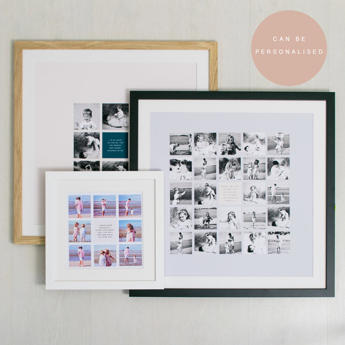 Fathers Day Square Montage, various image count, 6cm Image Squares