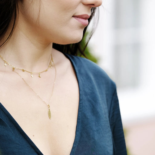 The Gold Feather Necklace