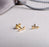 Gold Arrow Dainty Stacking Studs