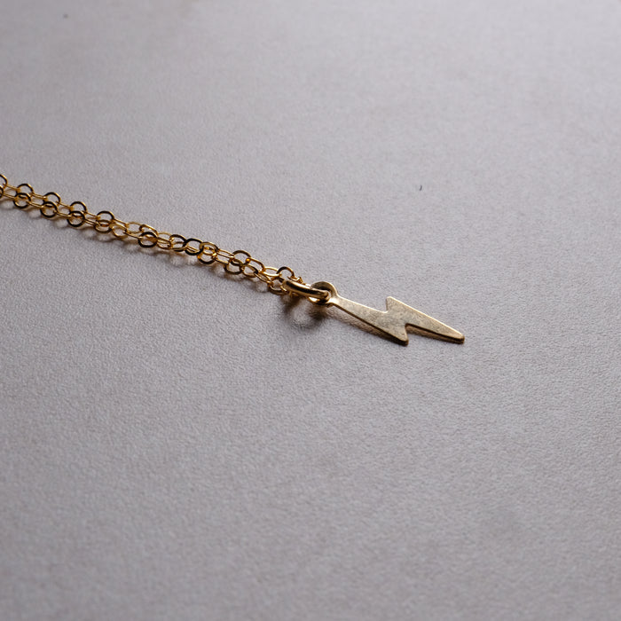 Gold Lightning Bolt Necklace
