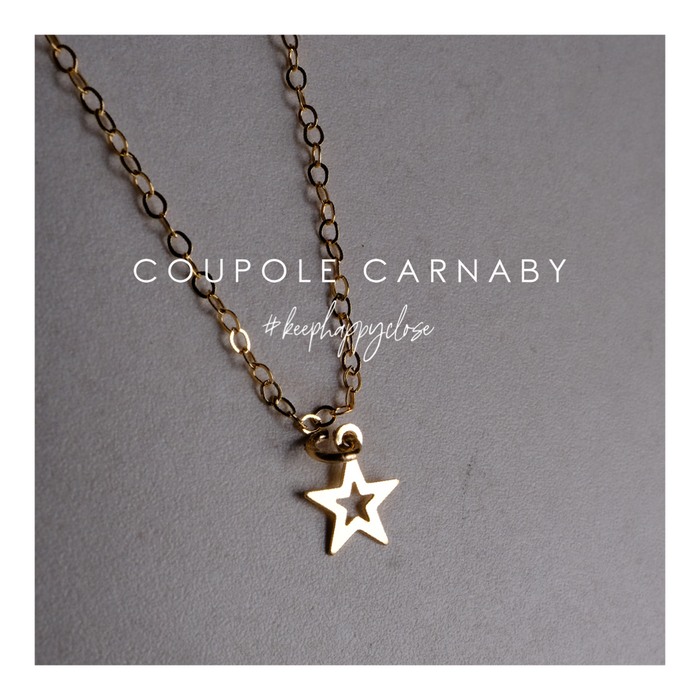 Gold Lucky Open Star Necklace