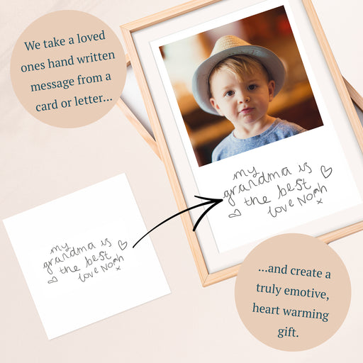 Your Childs Handwritten Photo Print For Grandparents