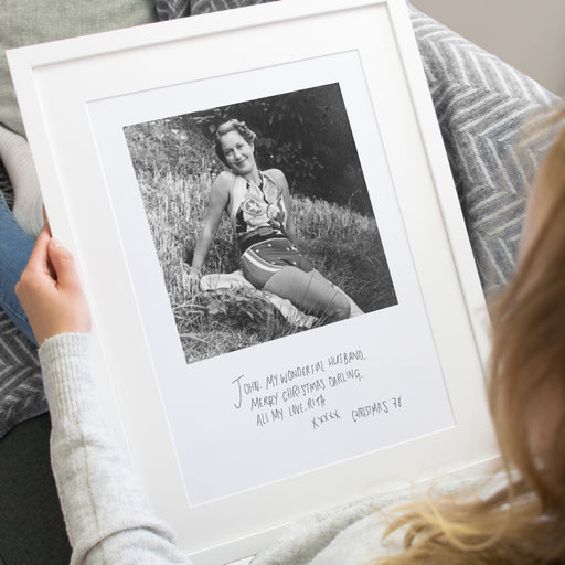 Take Grandad Back in Time with a photo of Grandma With her Writing