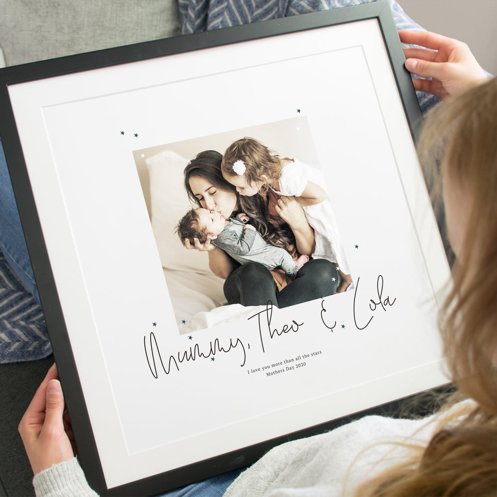 'I love you more than all the stars' Scripted Mothers Day Print