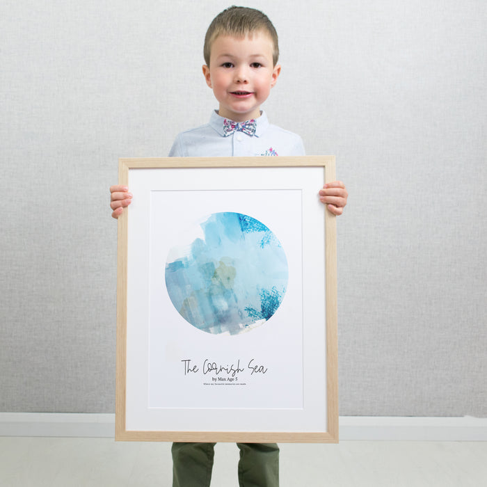 Personalised Circular Childrens Artwork Print