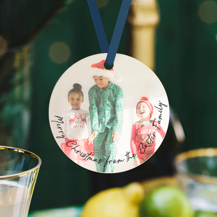 Merry Christmas from Your Family Personalised Photo Bauble